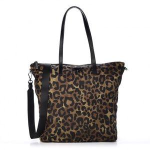 Prada Nylon Tote Leopard print NEW